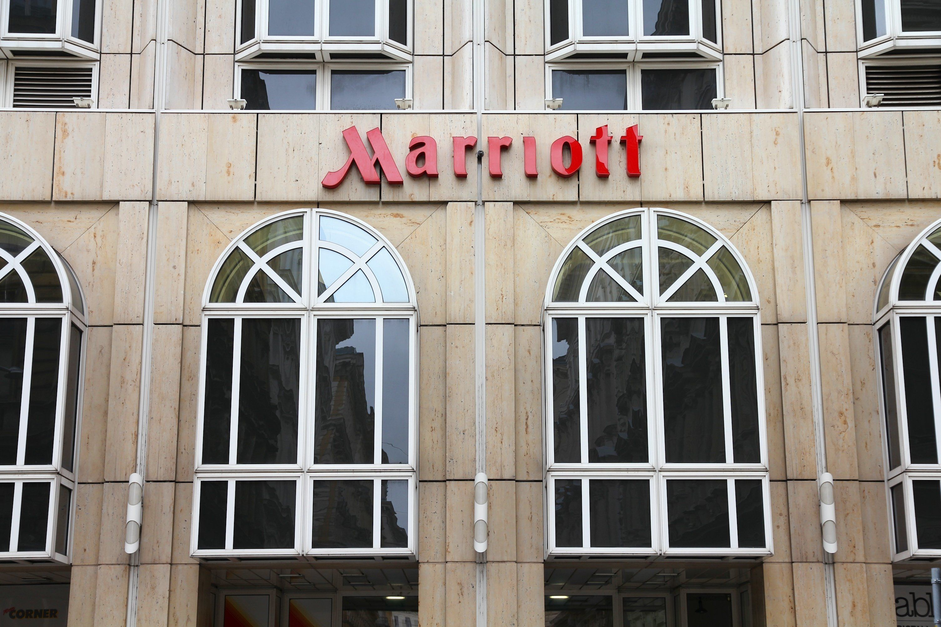 Marriott hotel in Vienna. Marriott International has 3,800 properties in 74 countries and had 12.31 billion USD revenue in 2011.