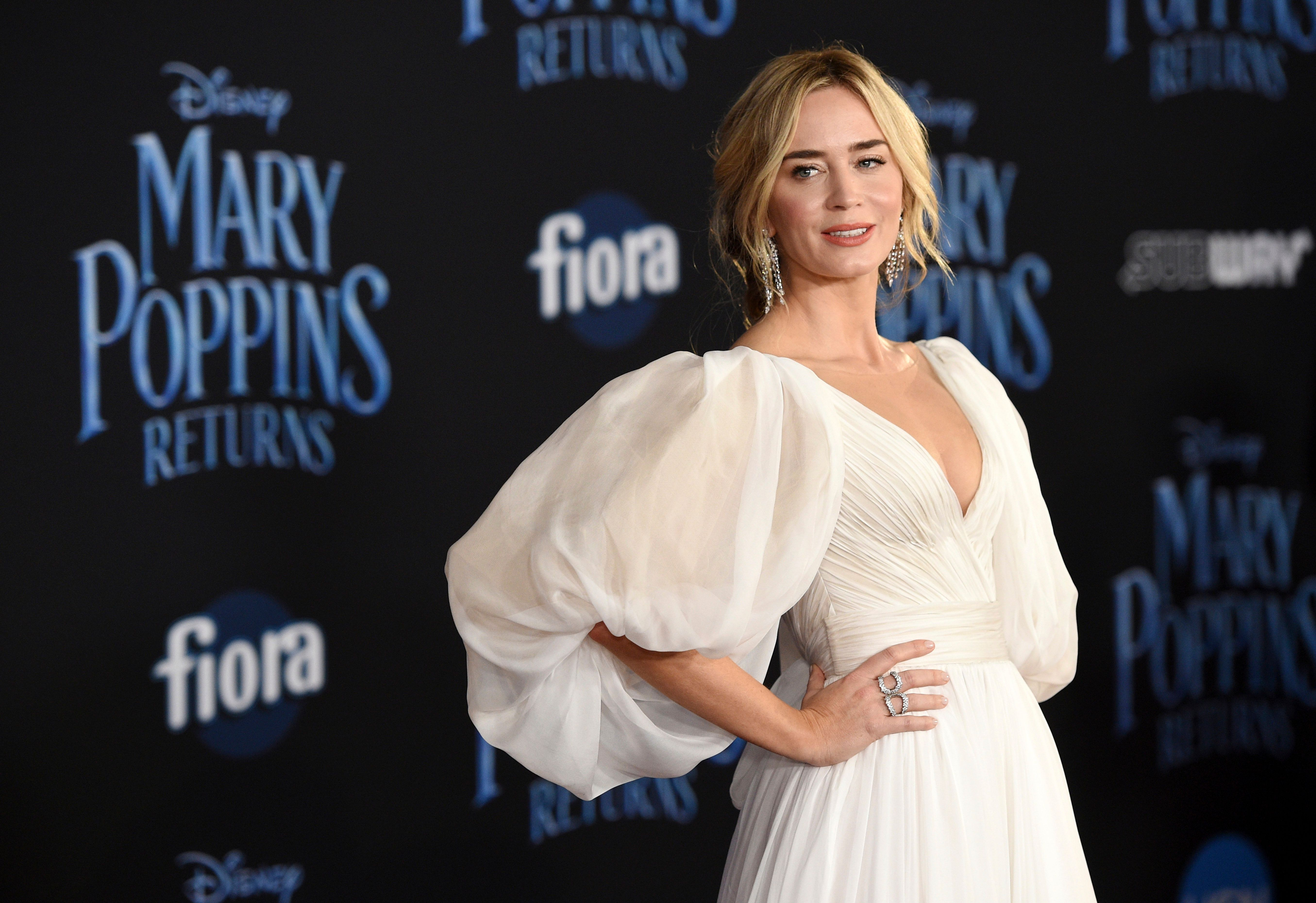 Emily Blunt Hits The Red Carpet For Disney's Sequel to Mary