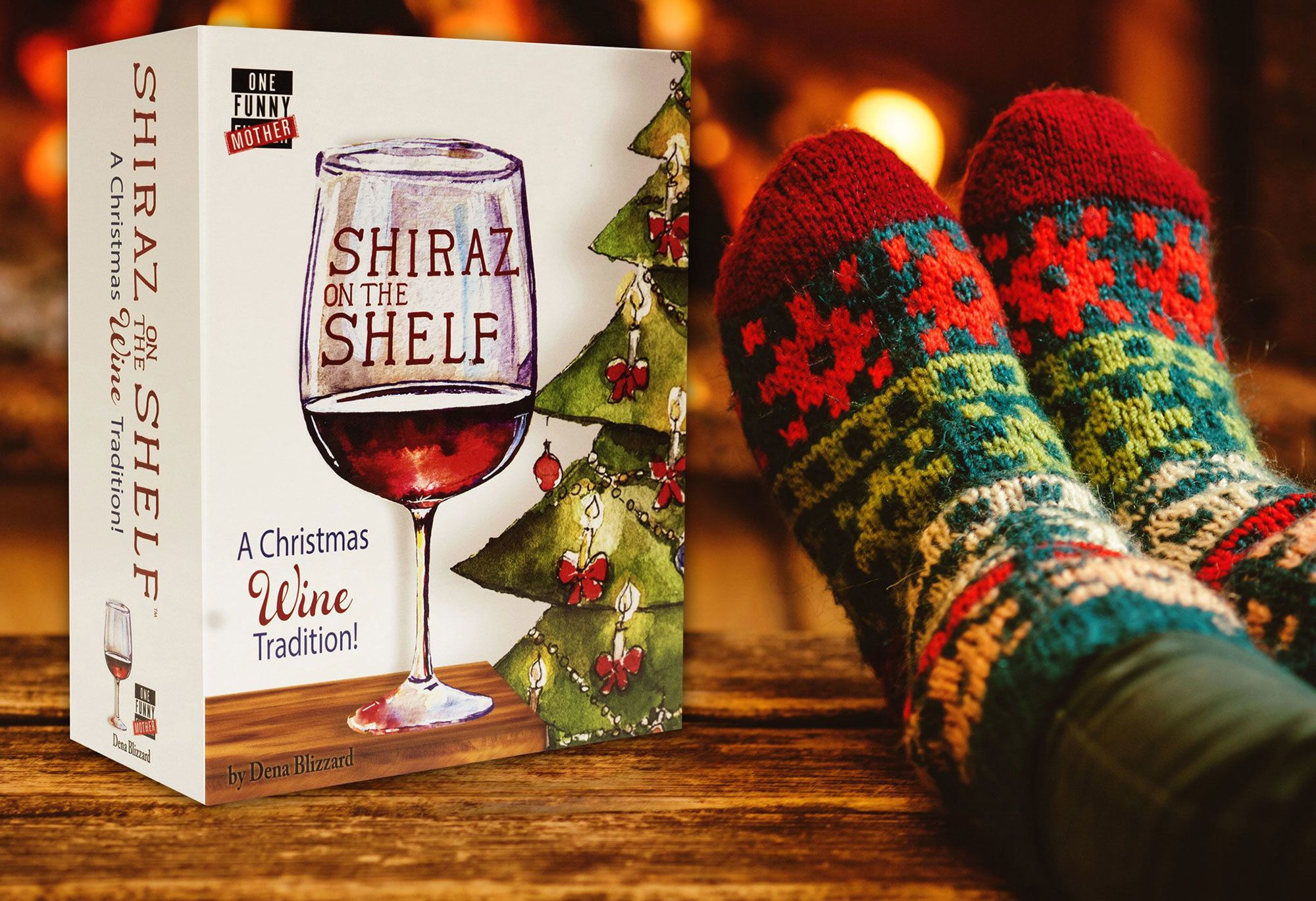 "Comedian and mom Dena Blizzard created ""Shiraz on the Shelf."""