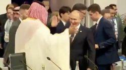Putin trifft den Saudi-Prinz: Dieser Handschlag sorgt für