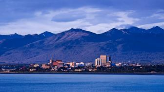 ANCHORAGE, ALASKA, UNITED STATES - 2009/06/18: Skyline of Anchorage. (Photo by John Greim/LightRocket via Getty Images)