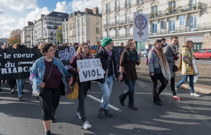 A protest against gender-based violence in Nantes, France, last weekend.