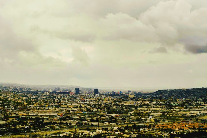 Aerial view of Tijuana, Mexico.