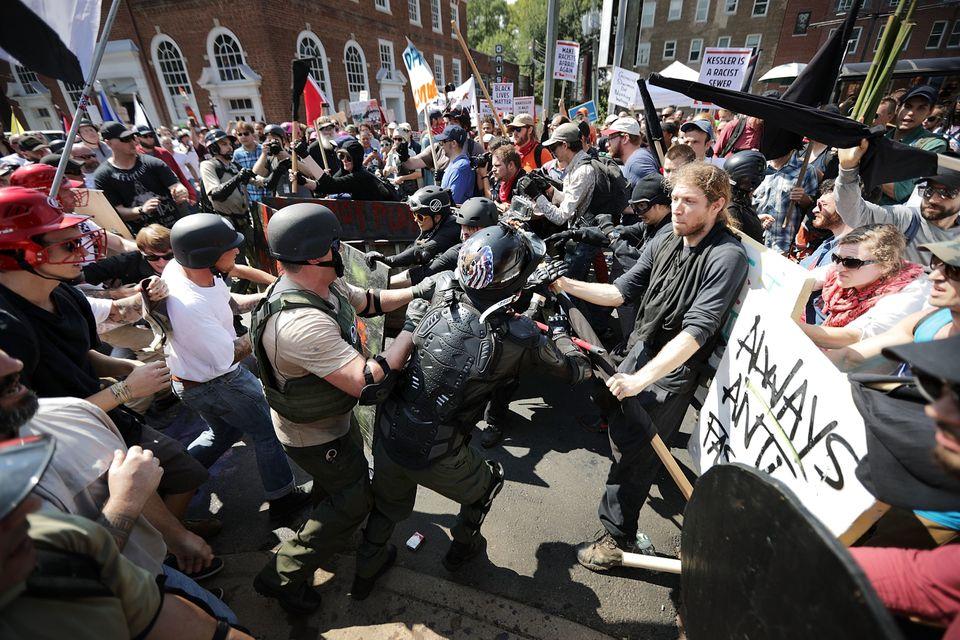 Demonstranten in Charlottesville.