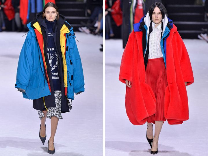Massive coats at Balenciaga.