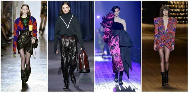 Da esquerda à direita: Versace, Givenchy, Marc Jacobs, Saint