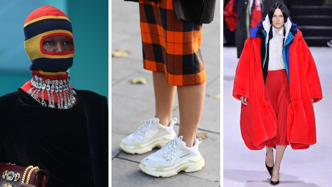 Balaclavas, ugly sneakers and oversized coats were major trends of 2018.