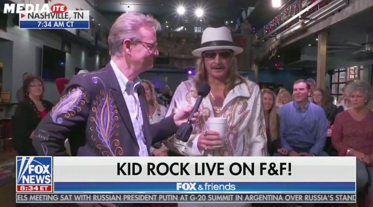 "Kid Rock says screw that b***h Joy Behar on ""Fox & Friends"""