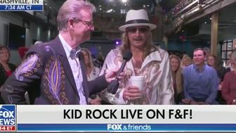 "Kid Rock says screw that b***h Joy Behar on ""Fox & Friends"""