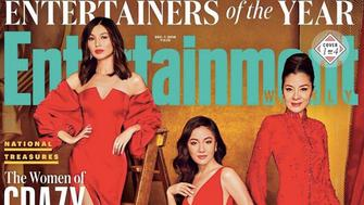 """The casts of """"Black Panther"""" and """"Crazy Rich Asians"""" served fierce looks on the covers of """"Entertainment Weekly."""""""