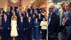 G20: Putin präsentiert Macron brisante Zeichnung, Merkel sucht Nähe zu