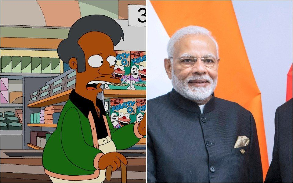 Argentine TV Welcomes Indian PM With Picture Of Apu From 'The Simpsons'