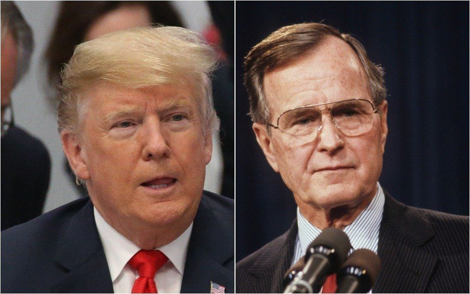 Donald Trump & George HW Bush