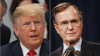 Donald Trump & George HW Bush