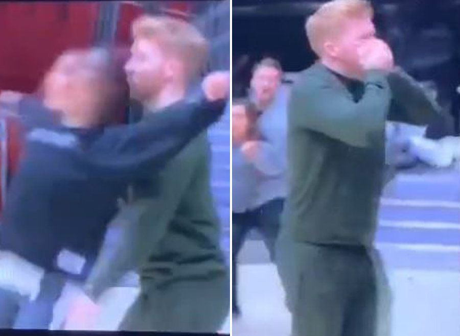 Strictly Come Dancing's Neil Jones Yelps In Pain As He's Headbutted By Wife