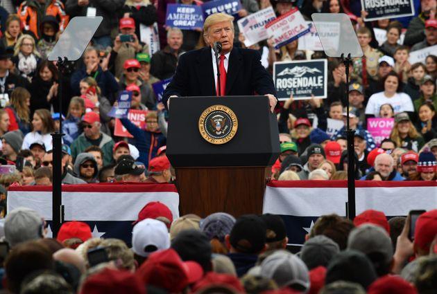 Donald Trump bei einer Wahlkampfrede.