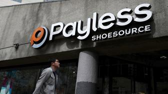 SAN FRANCISCO, CA - APRIL 05:  A pedestrian walks by a Payless Shoe Source store on April 5, 2017 in San Francisco, California.  Kansas-based discount shoe retailer Payless Shoe Source has filed for Chapter 11 bankruptcy and will close nearly 400 of its stores.  (Photo by Justin Sullivan/Getty Images)