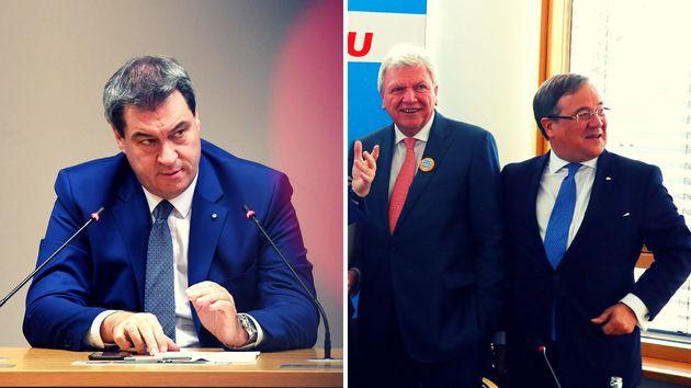Markus Söder, Volker Bouffier und Armin Laschet: Sie sind nicht die einzigen, die gegen den Digitalpakt...