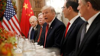 President Donald Trump talks during his bilateral meeting with China's President Xi Jinping, Saturday, Dec. 1, 2018 in Buenos Aires, Argentina. (AP Photo/Pablo Martinez Monsivais)