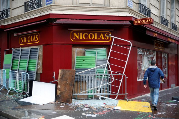 The morning after the riots revealed swathes of damaged property.