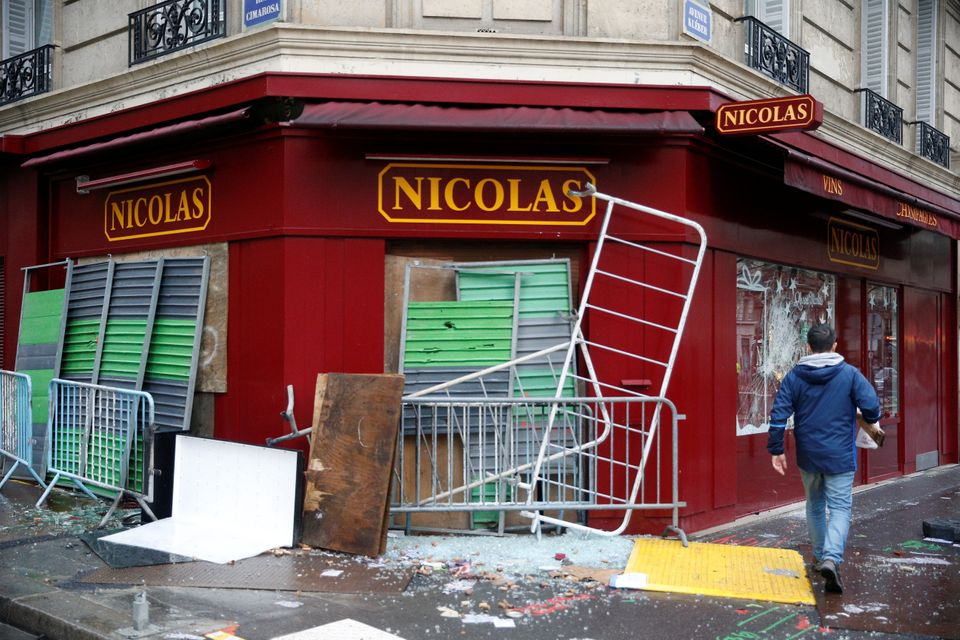 The morning after the riots revealed swathes of damaged