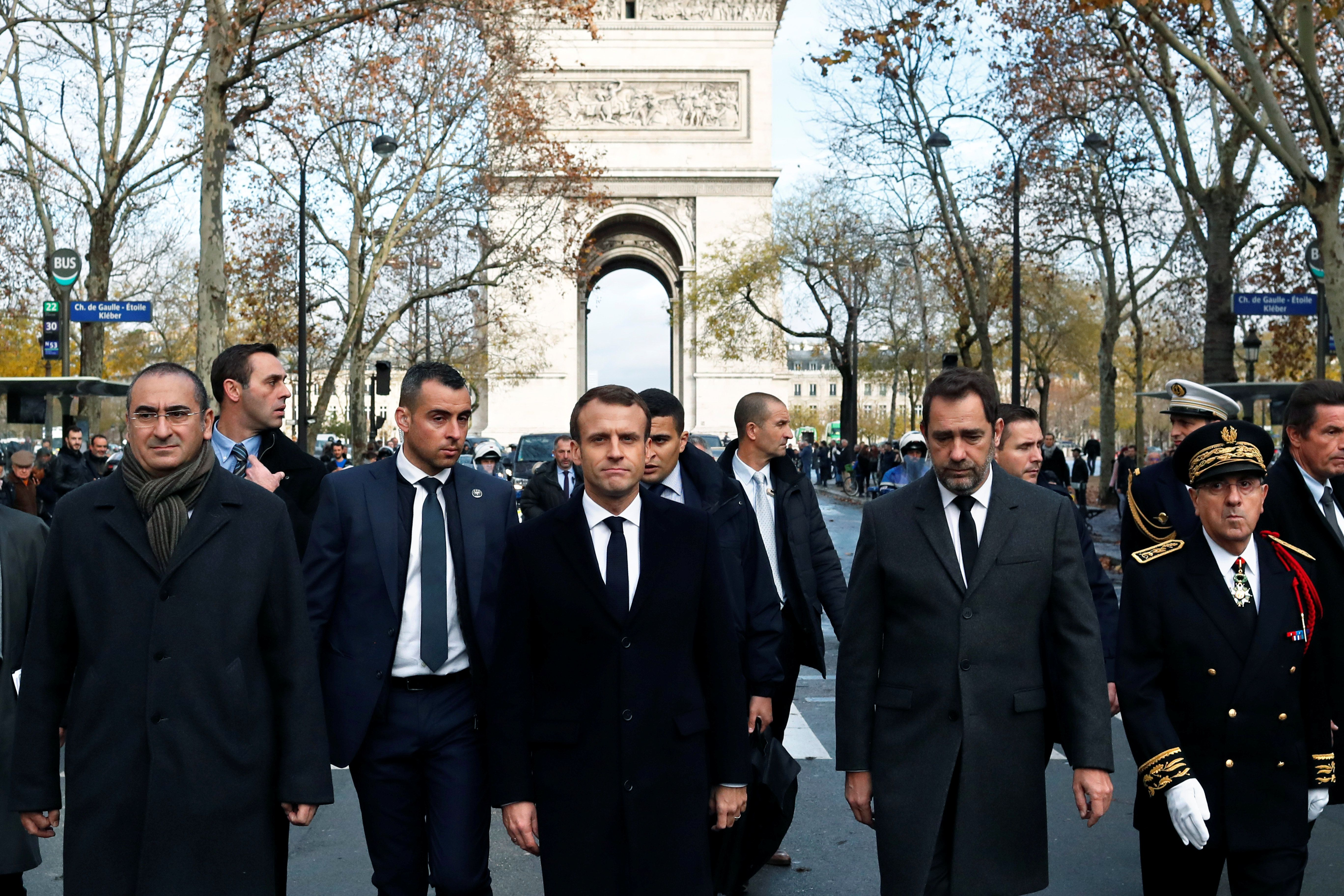 Macron Tours Damaged Paris Site In Aftermath Of
