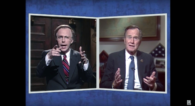 George H.W. Bush And Dana Carvey