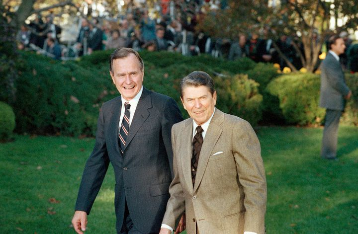 "George H.W. Bush promised a ""kinder, gentler"" presidency than his predecessor, Ronald Reagan, but he cemented the influence o"