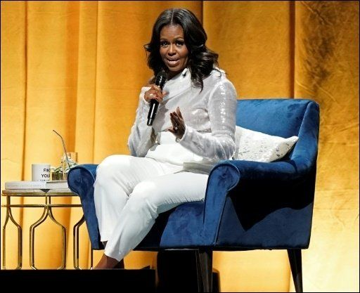 Michelle Obama on her 'Becoming' book tour.