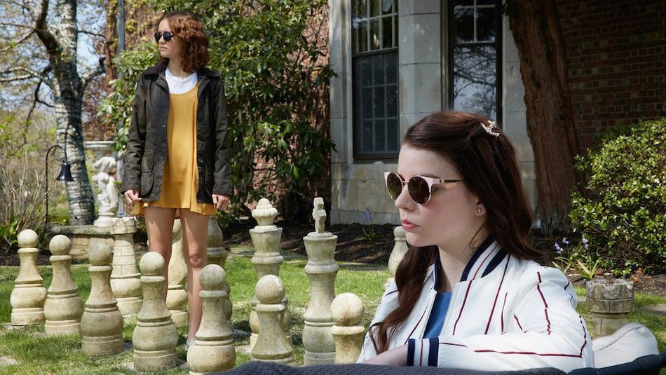 """""""The only thing worse than being incompetent or being unkind or being evil is being indecisive,"""" a sociopathic teen (Olivia Cooke) tells her sorta-friend (Anya Taylor-Joy) in """"Thoroughbreds."""" So they make a firm decision to kill the latter's vicious stepfather, a crime nuzzled amid the idylls of suburbia (think """"Heathers"""") and the hubris of uncanny companionship (think Ingmar Bergman's """"Persona""""). Cory Finley's satire is a slick psychodrama that's alternately hot and cold, amusing and bloody."""
