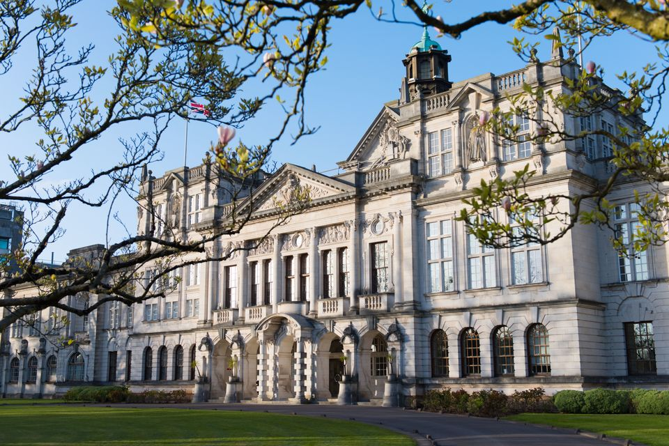 The main building at Cardiff University, where there has been a hike in housing costs of more than