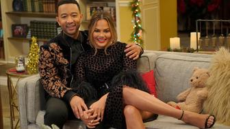 A LEGENDARY CHRISTMAS WITH JOHN & CHRISSY -- 2018 -- Pictured: (l-r) John Legend, Chrissy Teigen -- (Photo by: Paul Drinkwater/NBC/NBCU Photo Bank via Getty Images)