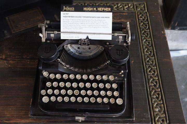 Hugh Hefner's typewriter.