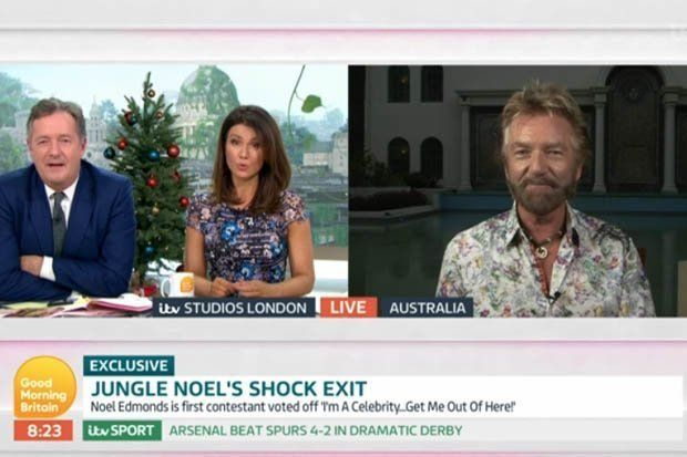 Noel Edmonds Shuts Down Piers Morgan's Questions About His 'I'm A Celebrity'