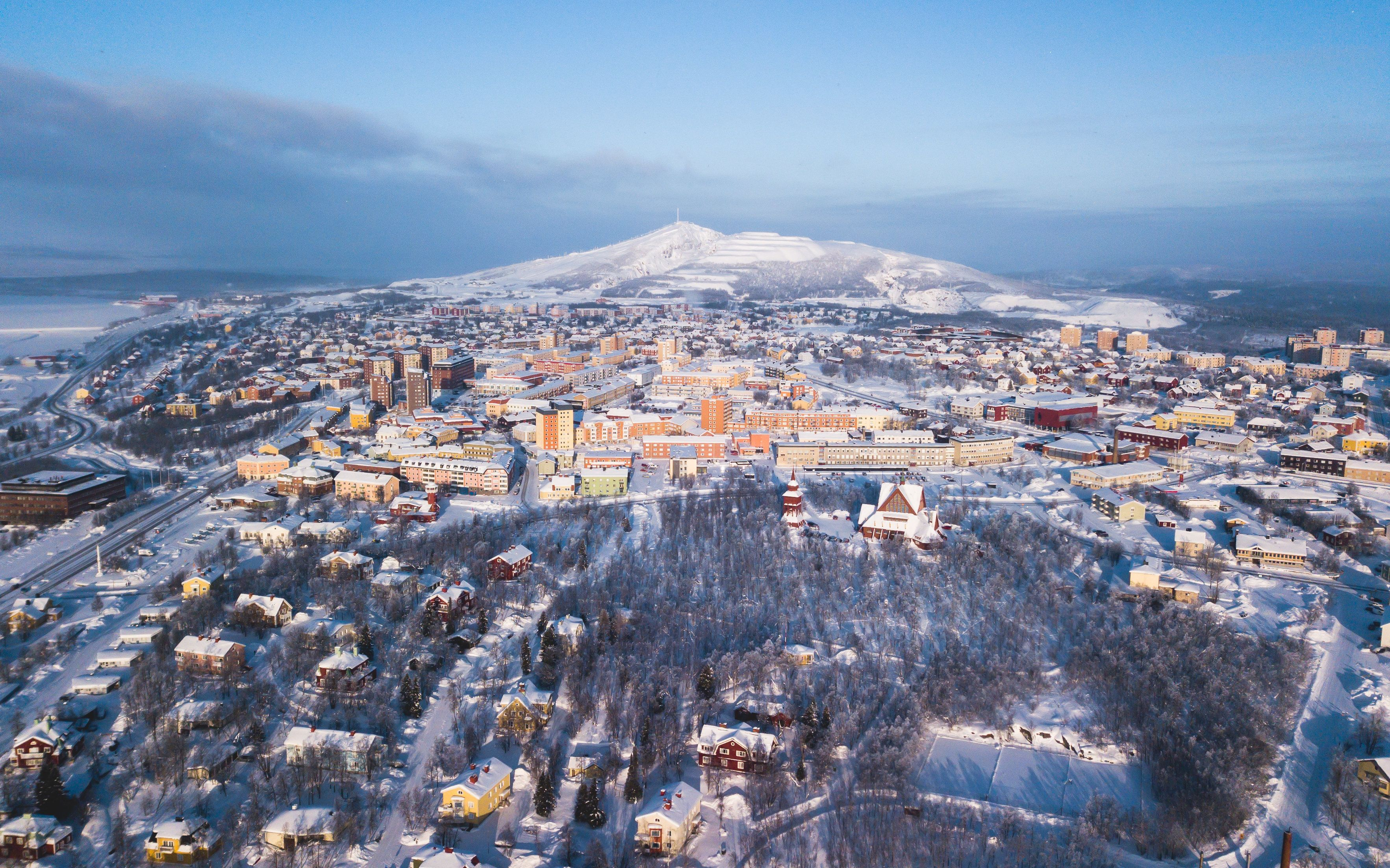 Kiruna, in northern Sweden, is being moved because it's threatened by iron ore mining deep beneath the