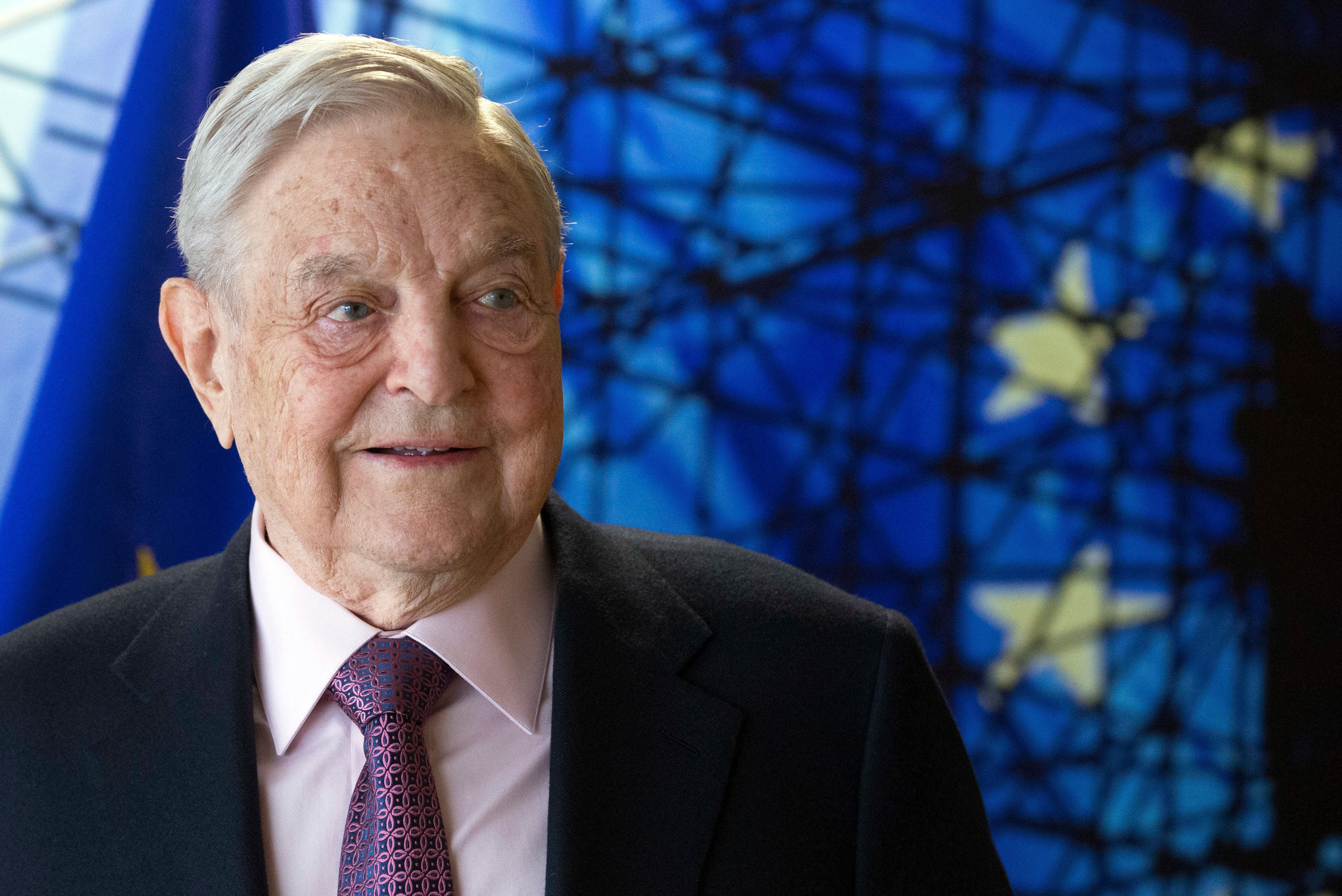 In this Thursday, April 27, 2017 file photo, George Soros, Founder and Chairman of the Open Society Foundation, waits for the