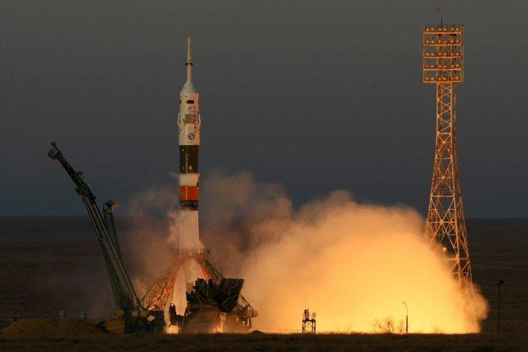 Décollage réussi d'un Soyouz vers l'ISS, premier vol habité depuis l'échec d'un
