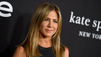 Jennifer Aniston arrives at the fourth annual InStyle Awards at The Getty Center on Monday, Oct. 22, 2018 in Los Angeles. (Photo by Jordan Strauss/Invision/AP)