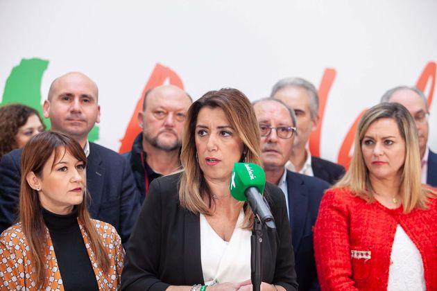Susana Díaz nach der Wahl.
