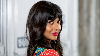 NEW YORK, NY - OCTOBER 02:  Jameela Jamil discusses 'The Good Place' with the Build Series at Build Studio on October 2, 2018 in New York City.  (Photo by Roy Rochlin/Getty Images)