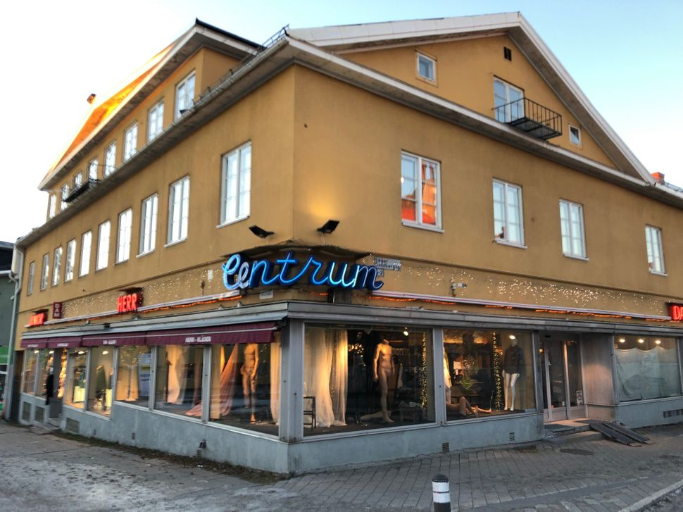 Centrum, a clothing store and landmark in Kiruna's existing city center.