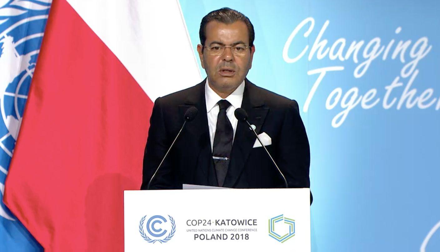 COP24: Le roi Mohammed VI appelle au soutien de l'Afrique