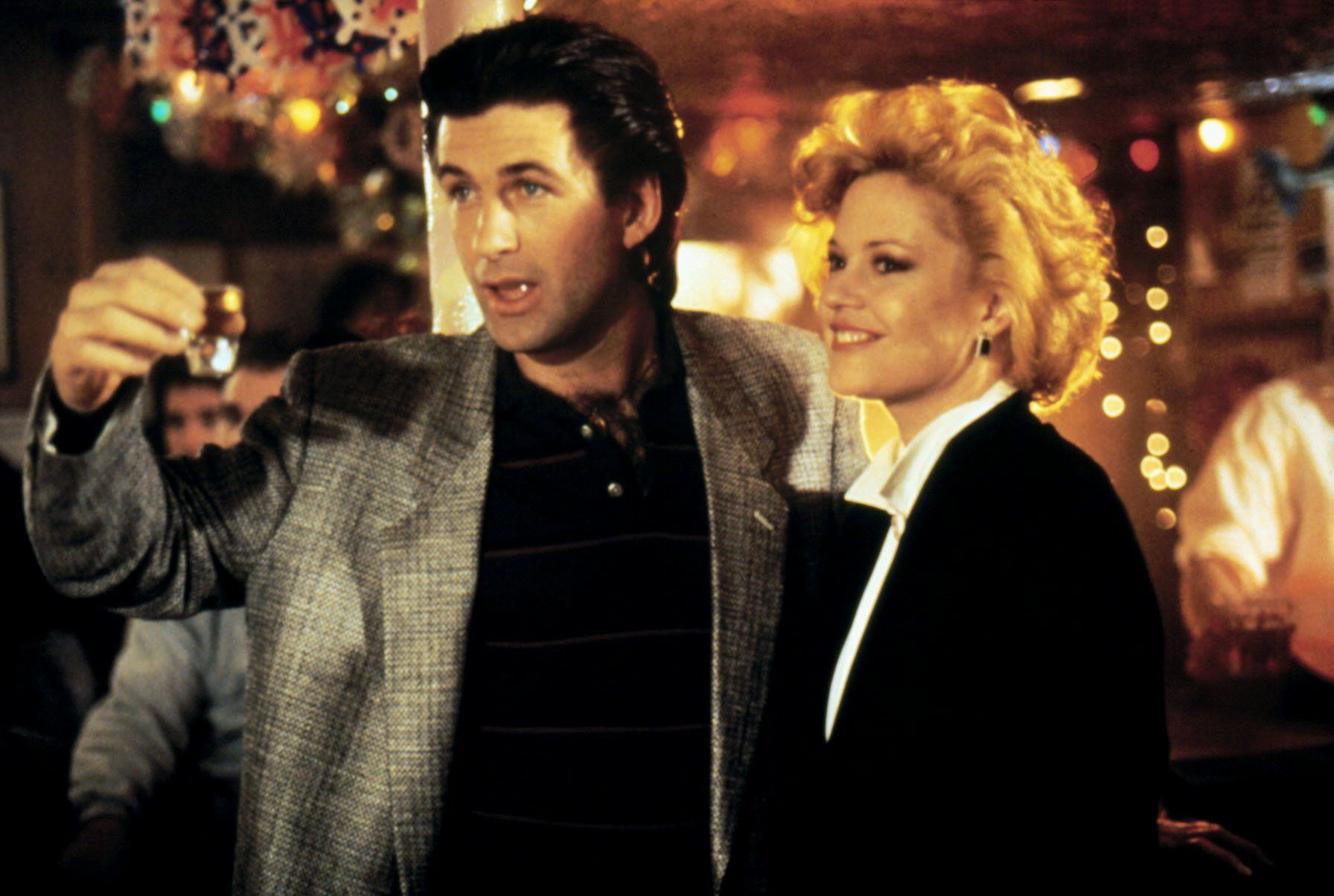 Alec Baldwin and Melanie Griffith in 'Working Girl'.