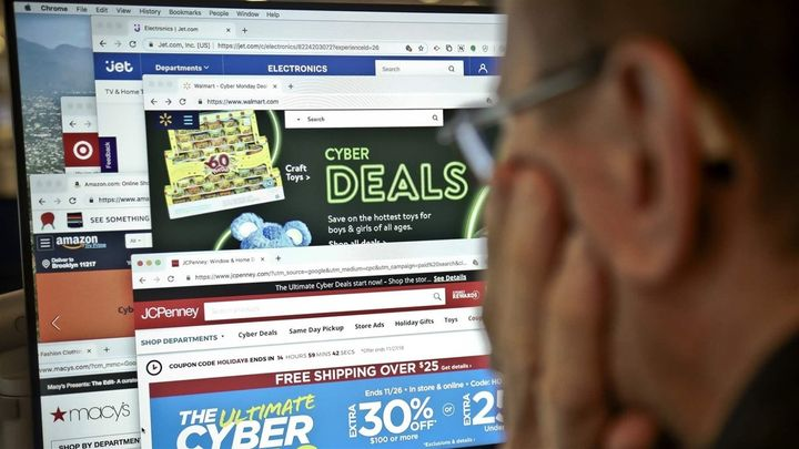 "Looking at ""Cyber Monday"" sales on a computer screen in New York. Some states are missing the boat when it comes to online sa"