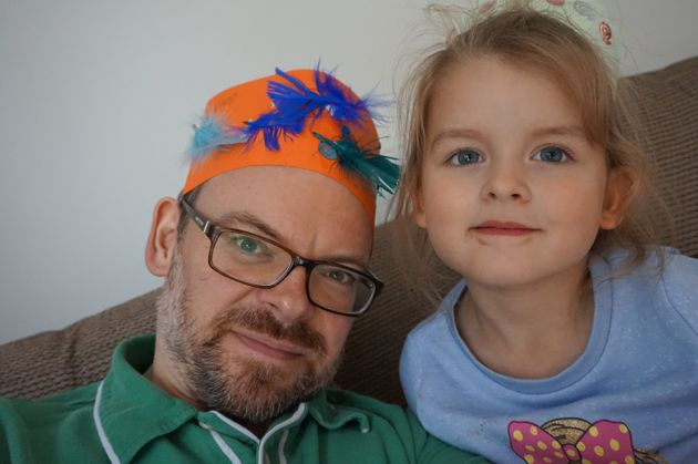 Carl Horrobin with his daughter