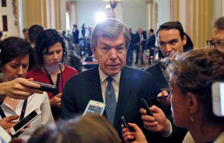 Sen. Roy Blunt (R-Mo.), the author of the Senate's sexual harassment bill, has held firm on keeping a provision in his bill t