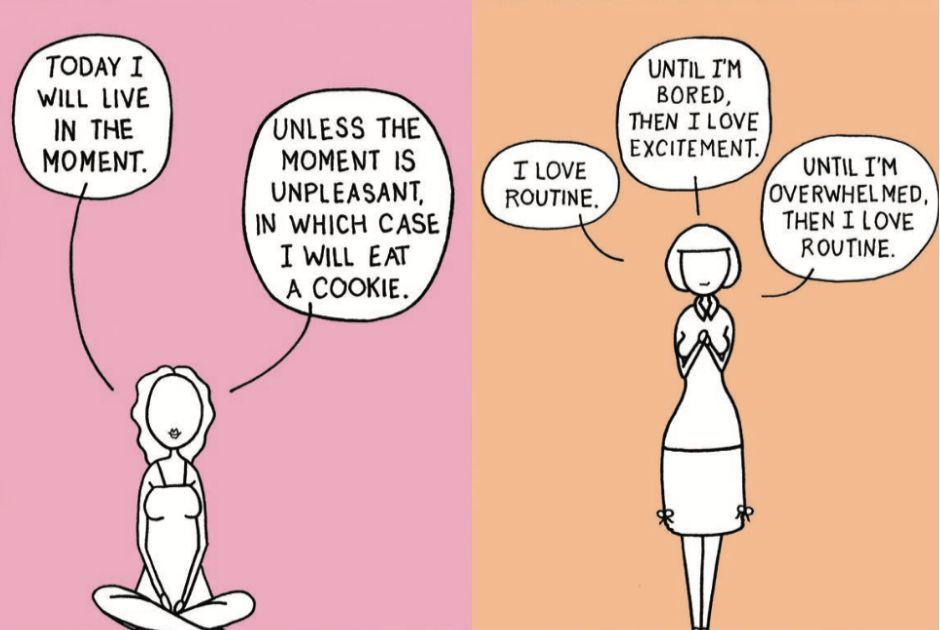 21 Too-Real Cartoons About The Struggle To Practice Mindfulness