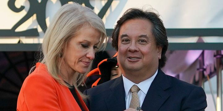 George Conway took aim at President Donald Trump over his tweet about Roger Stone.