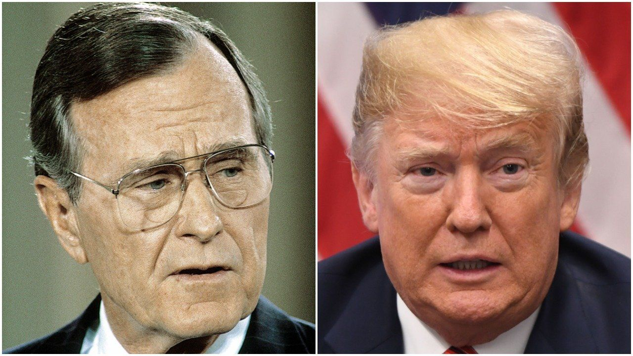 Author Stephen King draws comparison between George H.W. Bush and Trump.