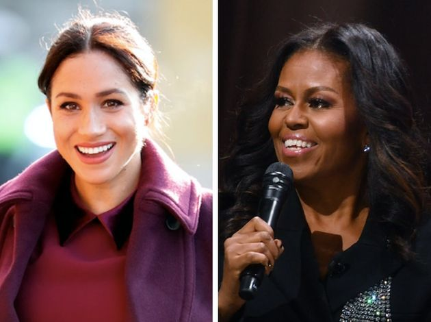 Former first lady Michelle Obama offered some words of wisdom for Meghan, the Duchess of Sussex,...